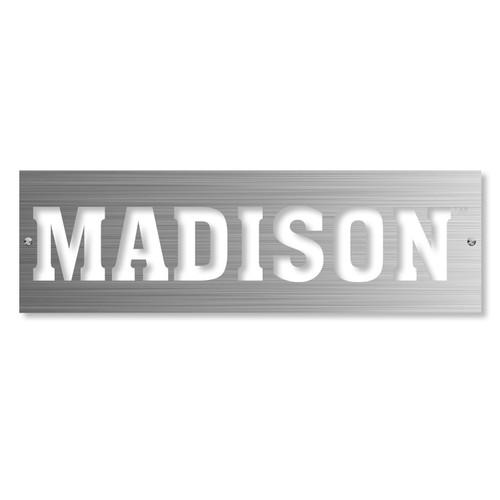 Rectangle Brushed Metal Art - Madison