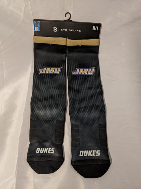 Black Socks with JMU and Dukes
