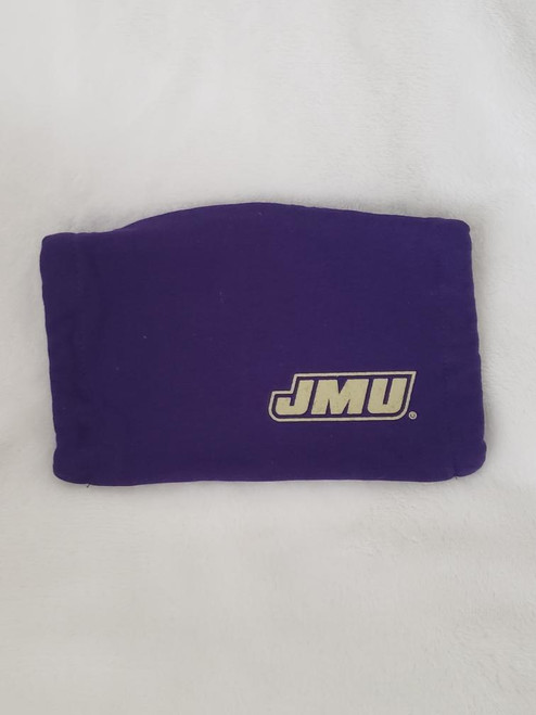 JMU Purple Face Mask with Gold Logo