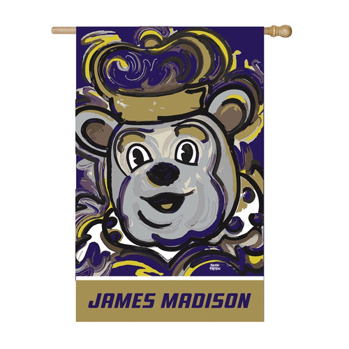 James Madison Duke Dog Pole Flag by artist Justin Patten