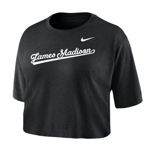 NIKE Short Sleeve Crop Tee with James Madison Script