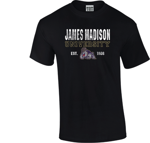 C20 - Black T-shirt with James Madison w/Duke Dog