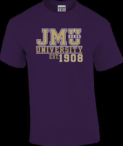 C20 Purple Shirt JMU Dukes est 1908