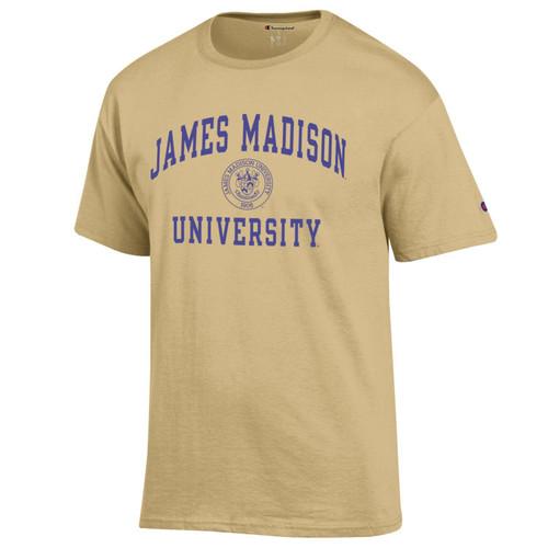 Champion James Madison University w/Crest T-Shirt Gold