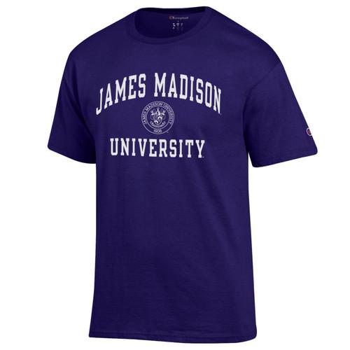 Champion James Madison University w/Crest T-Shirt Purple