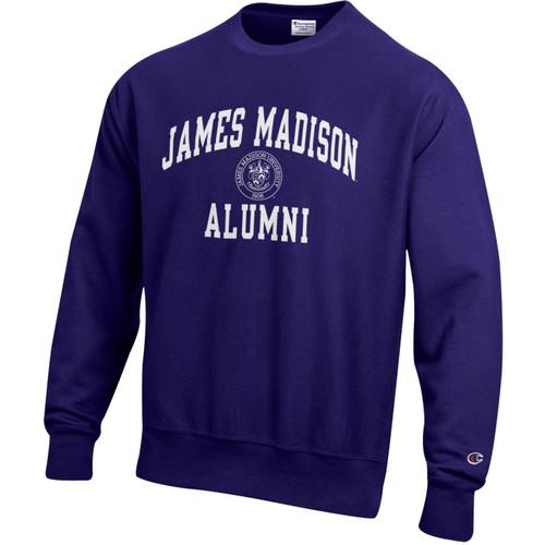 Champion Reverse Weave James Madison Alumni w/Crest Crew Purple
