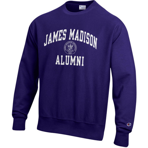 Champion Reverse Weave James Madison Alumni w/Crest Crew Purple