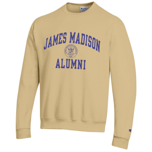 Champion James Madison Alumni w/Crest Crew Gold