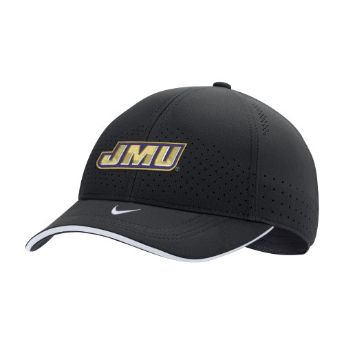 NIKE Classic99 Swoosh Flex Black w/JMU and Dukes on Back