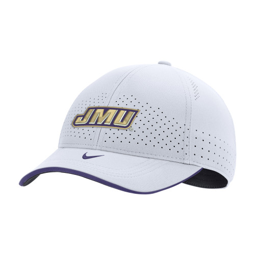 NIKE Legacy91 White SL20 with JMU Logo - - Adjustable