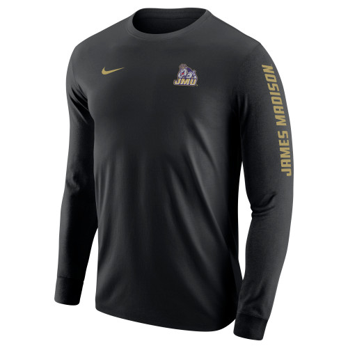 NIKE Cotton Core Long Sleeve James Madison on Sleeve