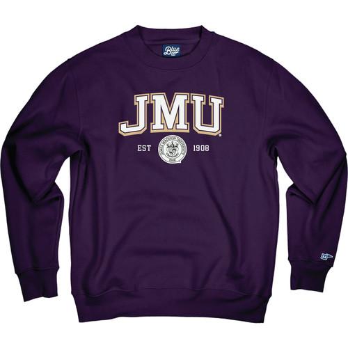 "B84 Purple Crew ""Fair Trad"" - JMU w/Crest Applique"