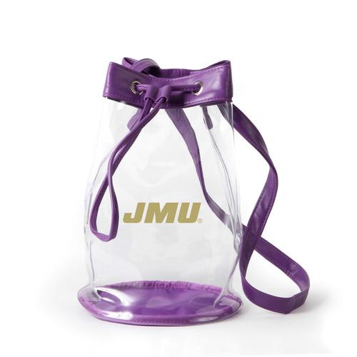 JMU Gold Logo Clear  Handbag
