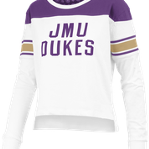 JMU Dukes Long Sleeve Cropped Shirt