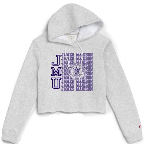 L20 - Crop Hooded Sweatshirt JMU w/crest