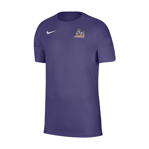 Black/Purple pattern under the sleeve and on the back.  Purple in the front.