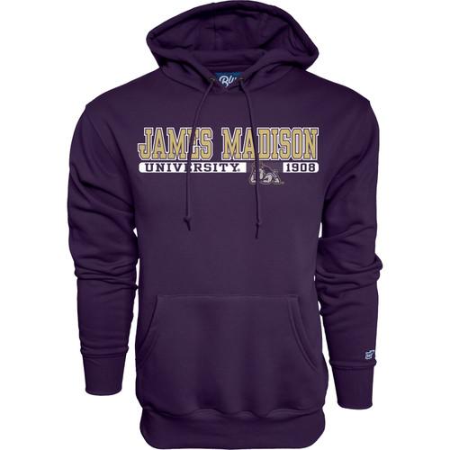 """B84 Purple Hooded Sweatshirt - - James Madison """"Grunt Work"""""""