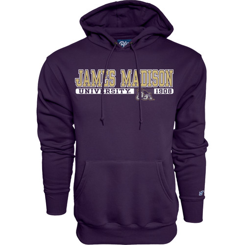 "B84 Purple Hooded Sweatshirt - - James Madison ""Grunt Work"""