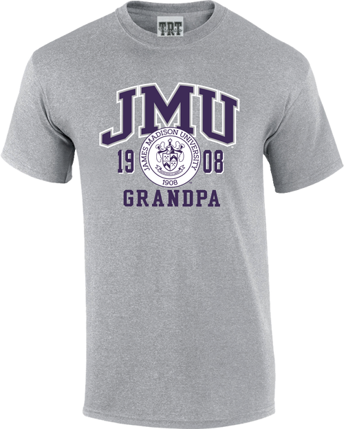 JMU Grandpa with Crest