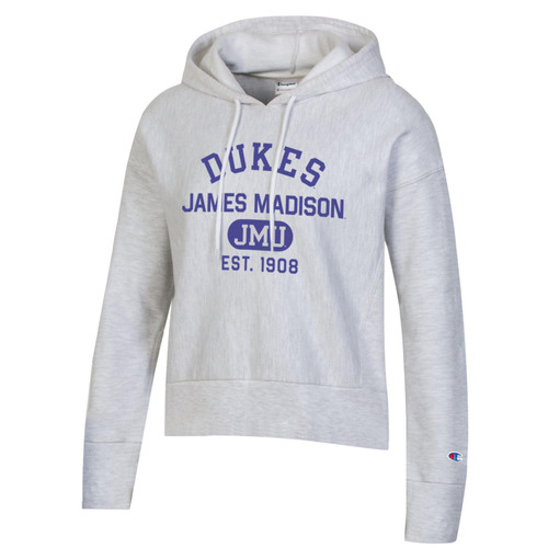 Champion Crop Hooded Reverse Weave Sweatshirt DUKES - Est 1908