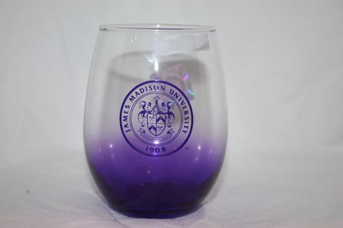 Purple Stemless Wine Glass