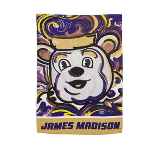 James Madison Duke Dog Garden Flag by artist Justin Patten