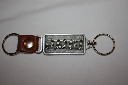 Silver/Leather Key Fob