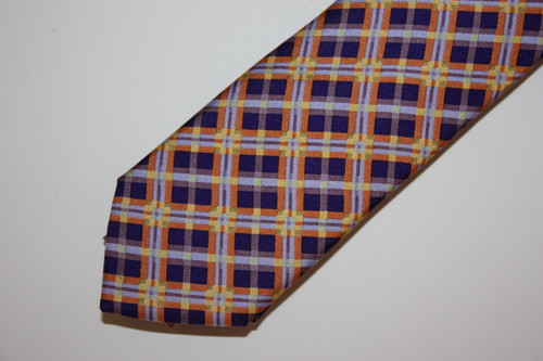 Purple/Gold Tarta Skinny Tie