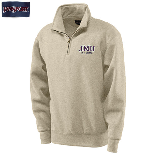 Blue 84 Left Chest JMU Twill 1/4 Zip