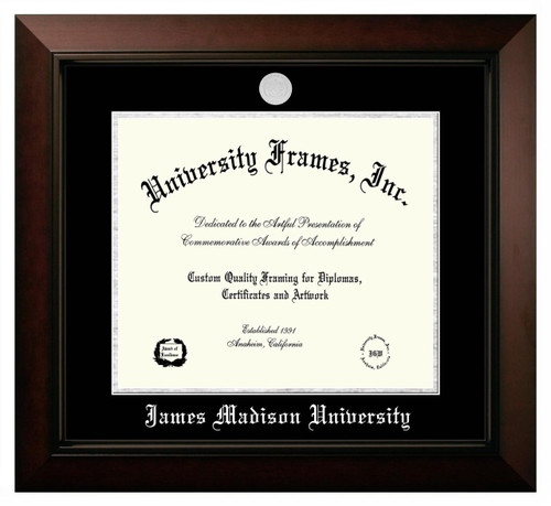 JMU Legacy Diploma Frame with Silver Medallion SPECIAL ORDER ONLY