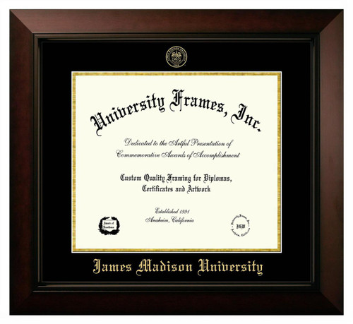 JMU Legacy Diploma Frame with Gold Foil