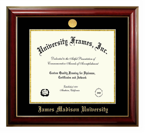 JMU Classic Diploma Frame with Gold Medallion