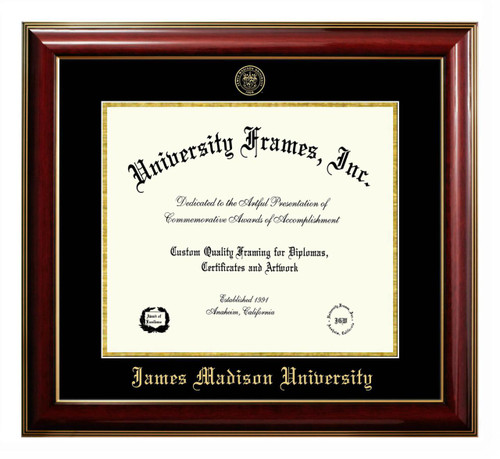 JMU Classic Diploma Frame with Gold Foil Stamp