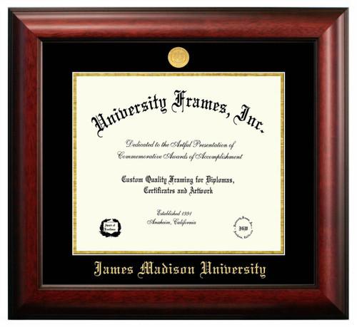JMU Satin Diploma Frame with Gold Medallion