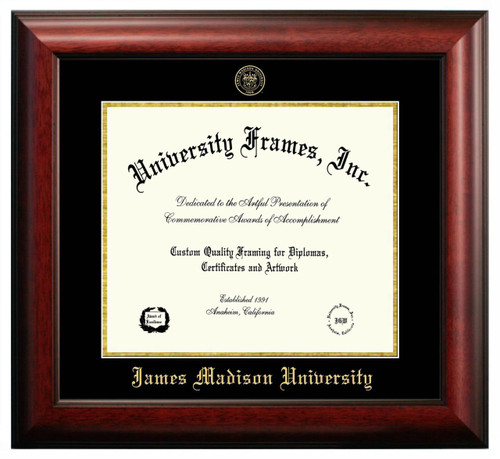 JMU Satin Diploma Frame with Gold Foil Stamp