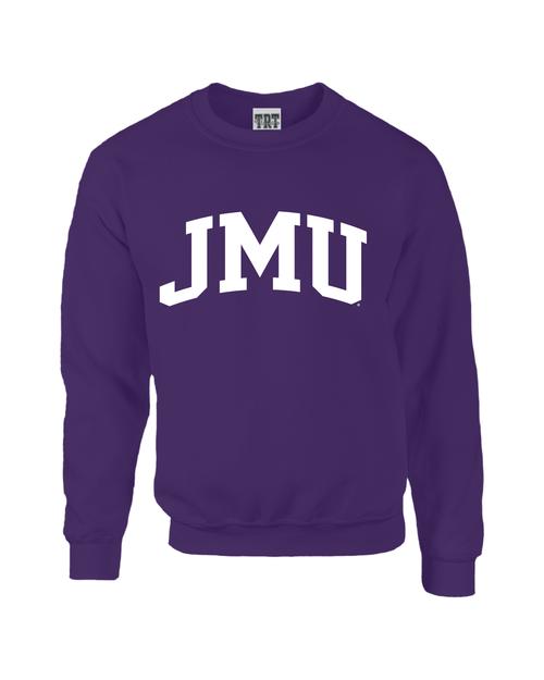 JMU Arch 1-color Purple Crewneck