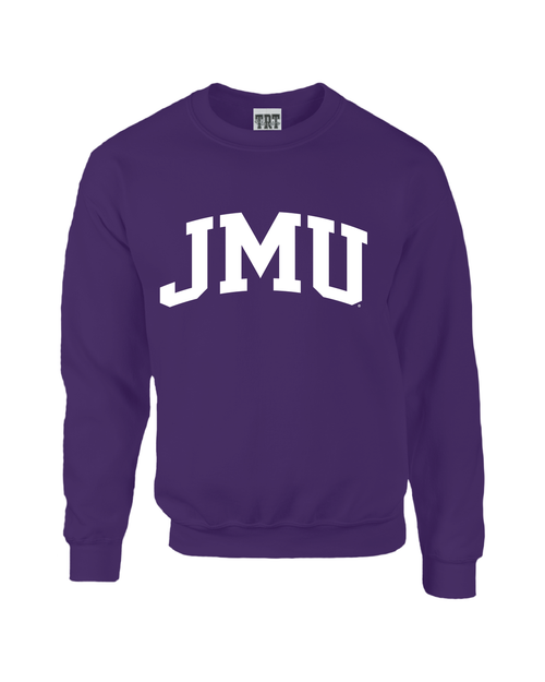 JMU Arch 1-color Purple Crewneck