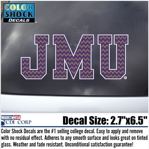 Chevron JMU Decal