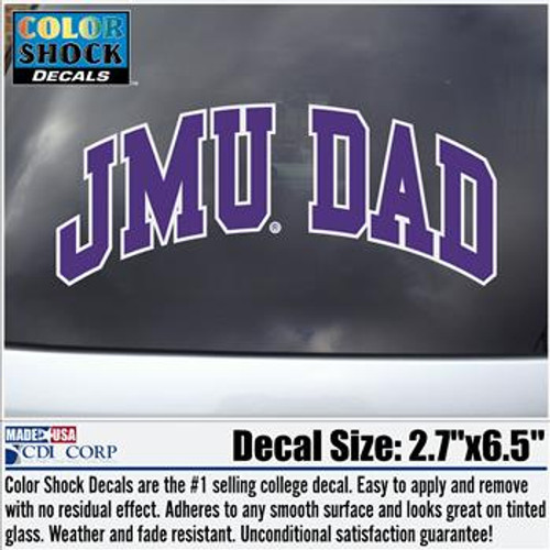Dad Decal-JMU DAD Arch
