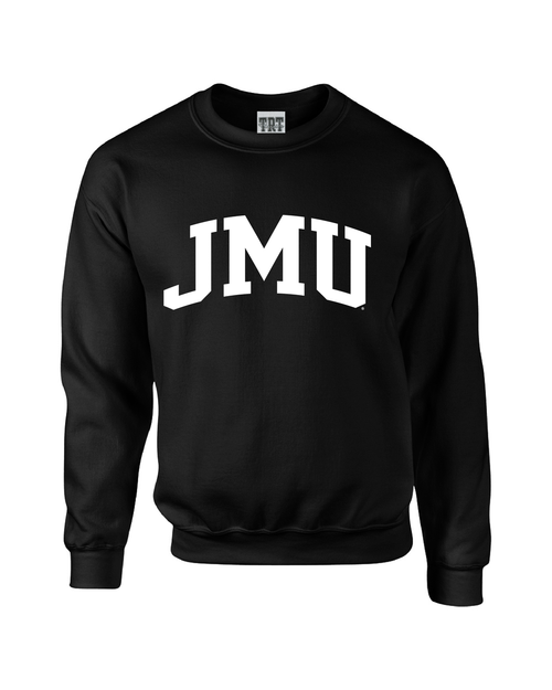 JMU Arch 1-color Black Crewneck
