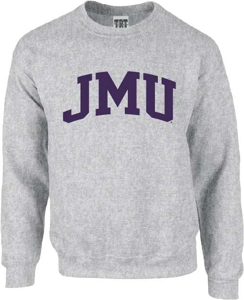 JMU Arch 1-color Gray Crewneck