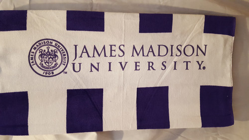 Beach Towel with Seal of James Madison University