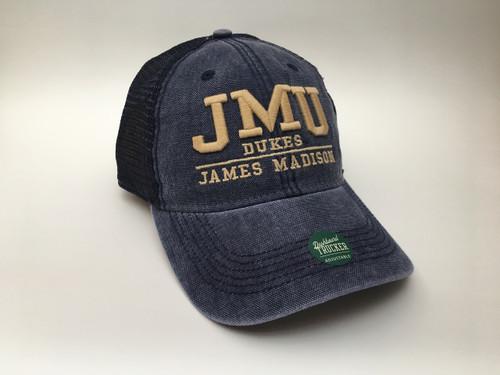 JMU Flanker Navy Trucker Hat