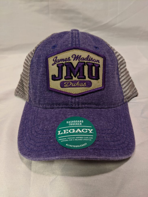 """The Pledge"" Trucker Hat - JMU Patch Purple/Gray"