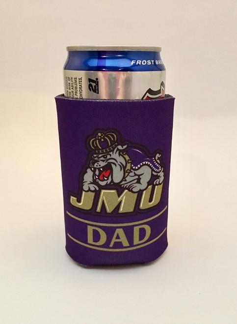 JMU Dad Koozie