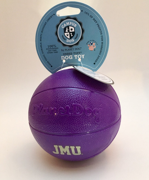 JMU Dog Basketball Toy