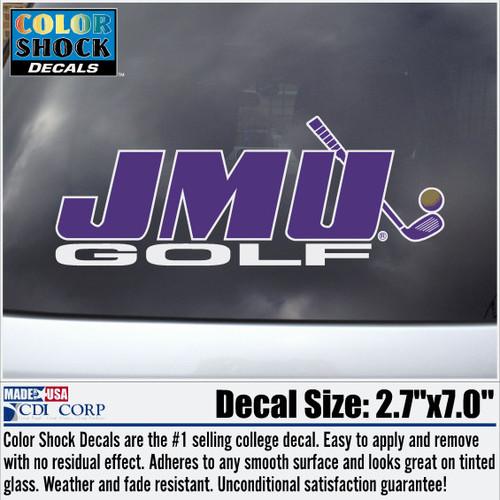 JMU Golf Decal