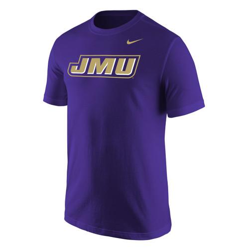 Nike Short Sleeve Cotton Tee with JMU Slant