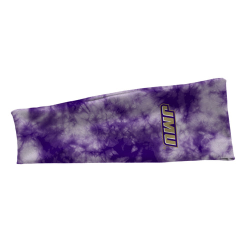 JMU Purple Tie-Dye Stretch Headband