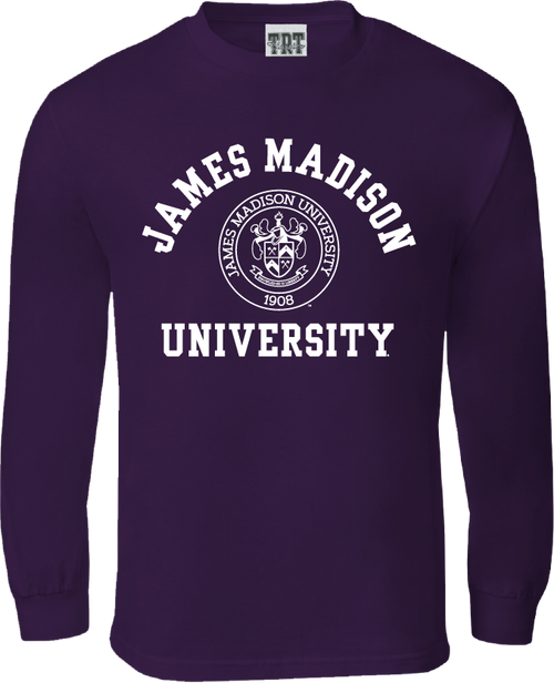 James Madison arched over Crest Long Sleeve